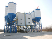 Double HZS120 Commercial Concrete Batching Plant Built in Kazakhstan