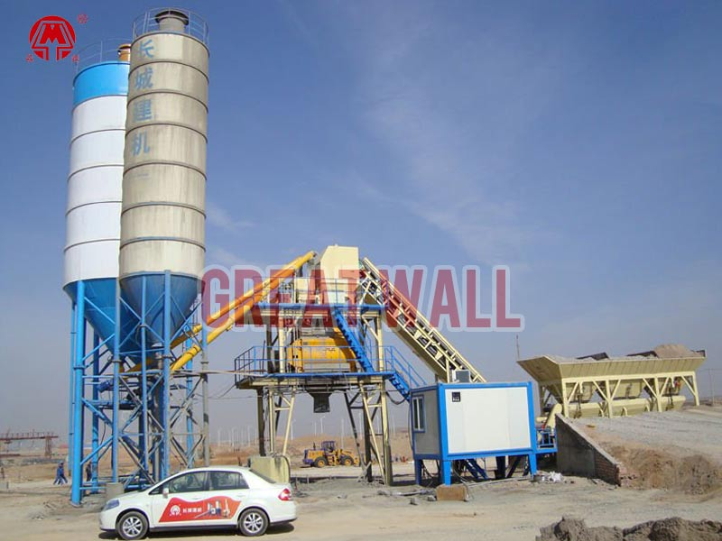 wet mix concrete batching plant