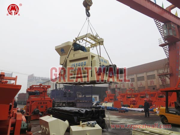 JS1000 concrete mixer packing