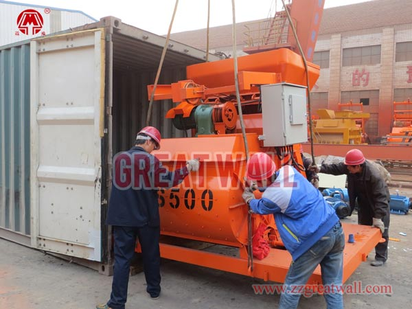 JS500 concrete mixer packing