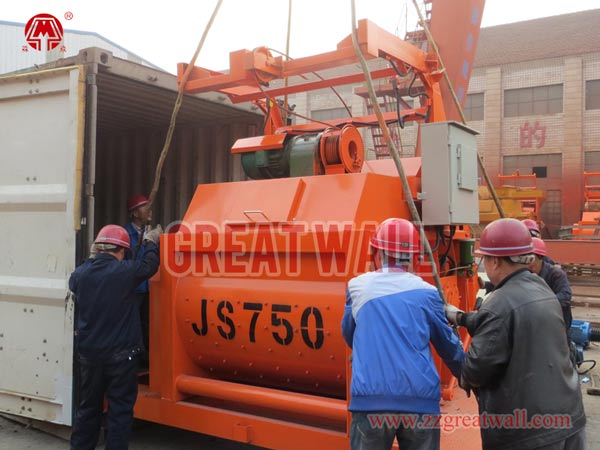JS750 concrete mixer packing