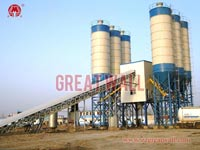 HZS180 Commercial Concrete Batching Plant Built in Jichang, Sinkiang, China