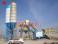 Double HZS90 Concrete Batching Plant Built in Ningdong Work Site of Ningxia Province for China Metallurgical Group