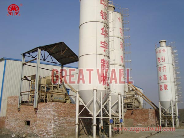 Double HZS75 Concrete Batching Plant Built in Kuitun, Sinkiang for China Railway Group