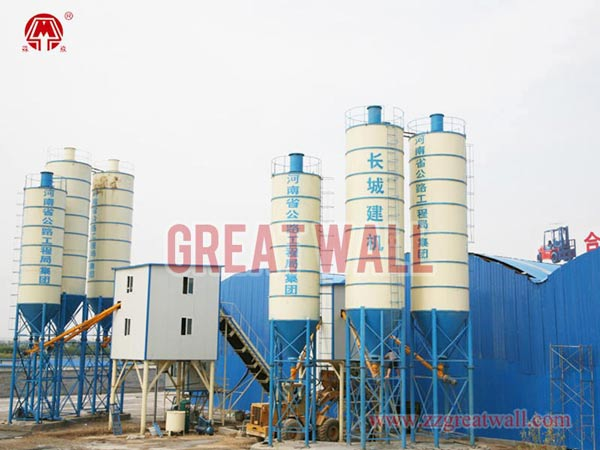 HZS75, HZS60 Concrete Batching Plants Built for Zhengzhou Yellow River The Fourth Bridges Project