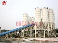Double HZS180 Commercial Concrete Batching Plant Built in Haicheng, Liaoning Province