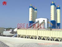 Double HZS120 Concrete Batching Plant Built in Jiexiu, Shanxi Province for China Railway 15th Bureau Group Co.,Ltd.