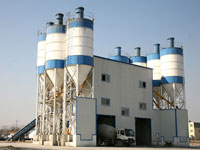 Double HZS120 Commercial Concrete Batching Plant Built in Moscow,Russia