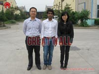 Indian customer is visiting our factory