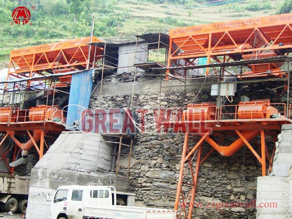 Double HZS35+HZS25 Concrete Batching Plant Built for Hanzhong Highway Project in Shan'xi Province