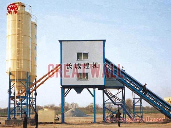 HZS60 Concrete Batching Plant Built for Henan Highway Bureau