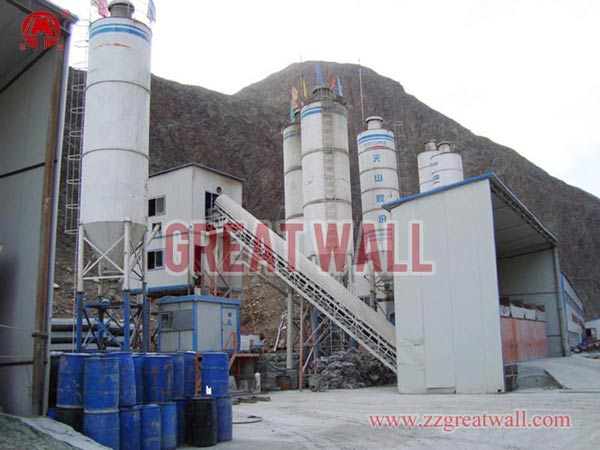 HZS60 Concrete Batching Plant Built in Sinkiang for China Highway Tunel Co.,Ltd.
