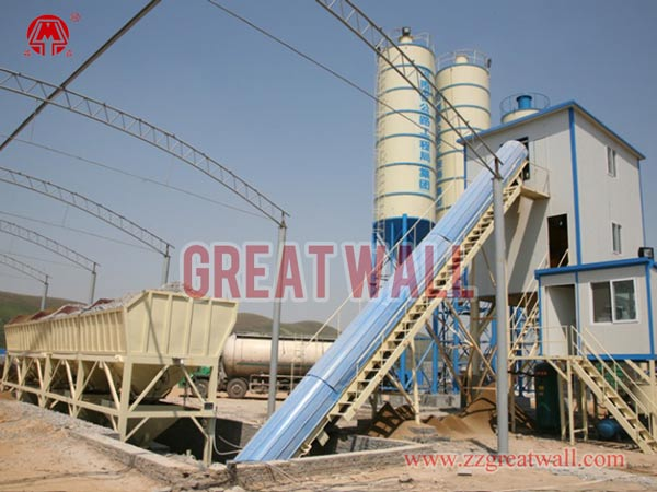 HZS60 Concrete Batching Plant Built for Gongyi Gong-Gao Highway Project