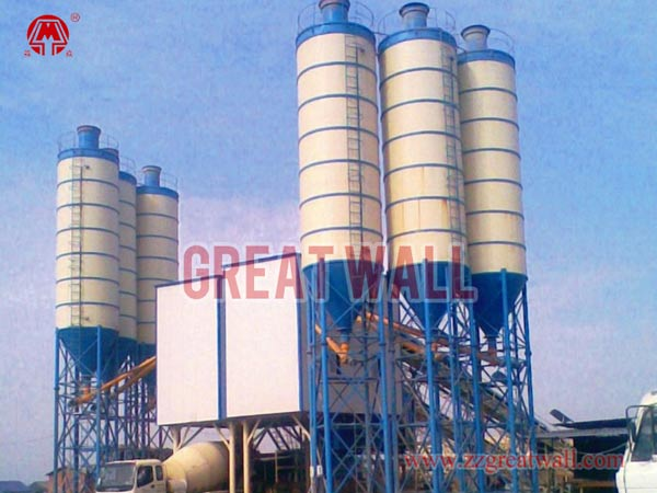 Double HZS90 Concrete Batching Plant Built in Shayang, Hubei Province for China South-North Water Diversion Project