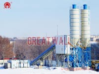 HZS90 Concrete Batching Plant Built in Kazakhstan